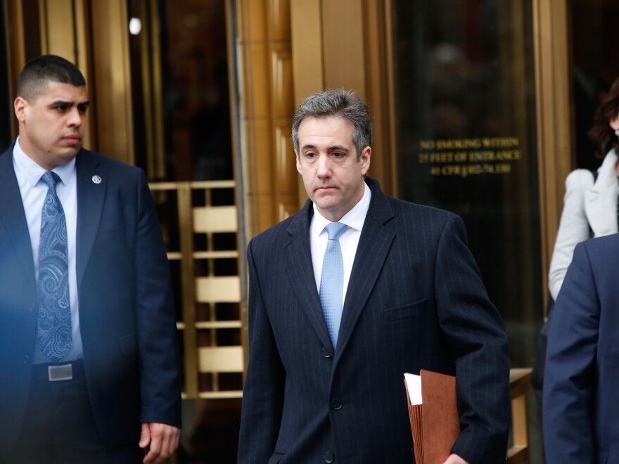 Michael Cohen, President Trump's former personal attorney and fixer, exits federal court Dec. 12 in New York City after being sentenced to three years in prison.