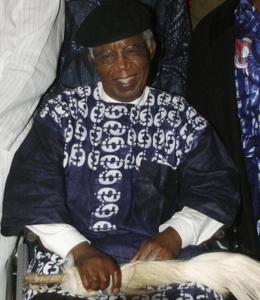 Nigerian writer Chinua Achebe in January 2009.