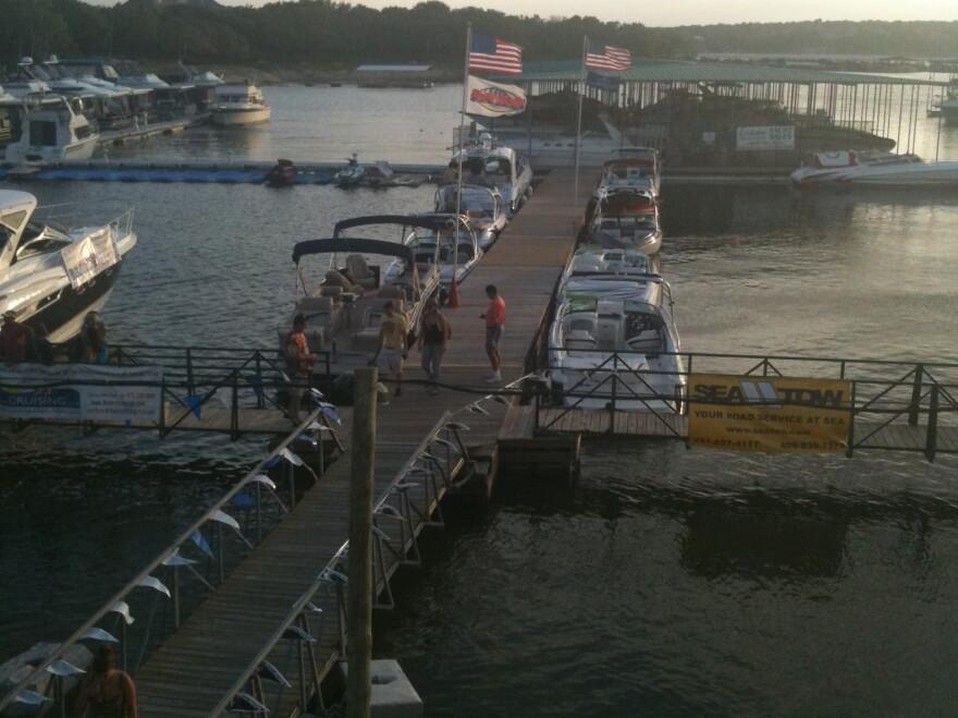 Carlos 'n Charlie's wharf in better days.
