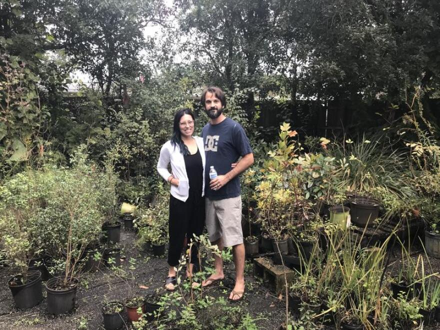Leslie (left) and Alfred (right) Romeu, owners of Native and Uncommon Plants LLC.
