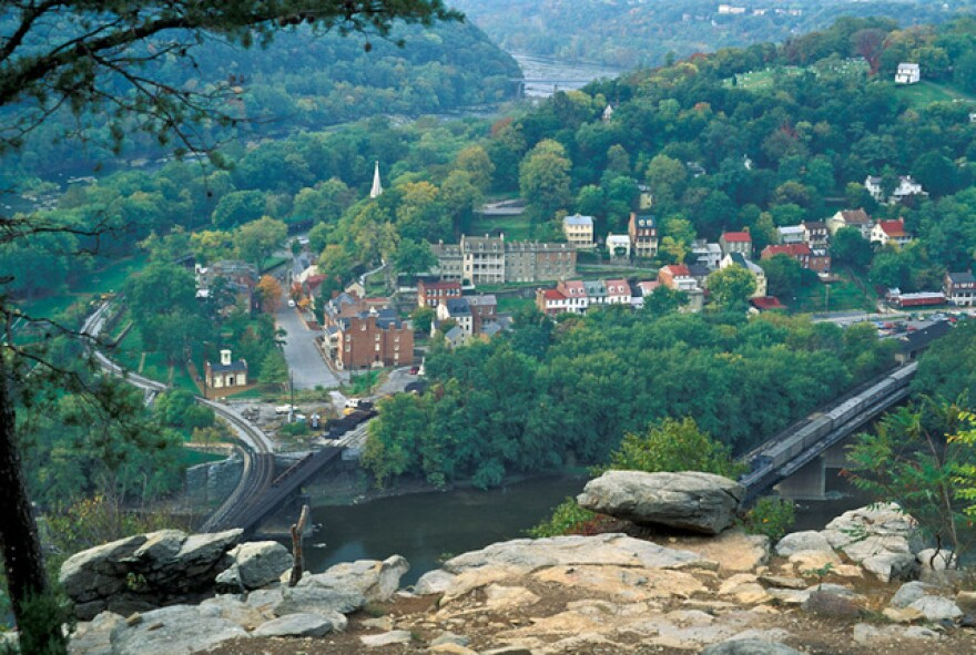 Harpers Ferry nestles between two rivers