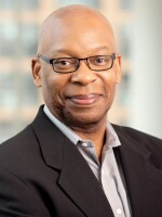 Headshot of Keith Jenkins at the NPR offices in Washington, DC. 2018