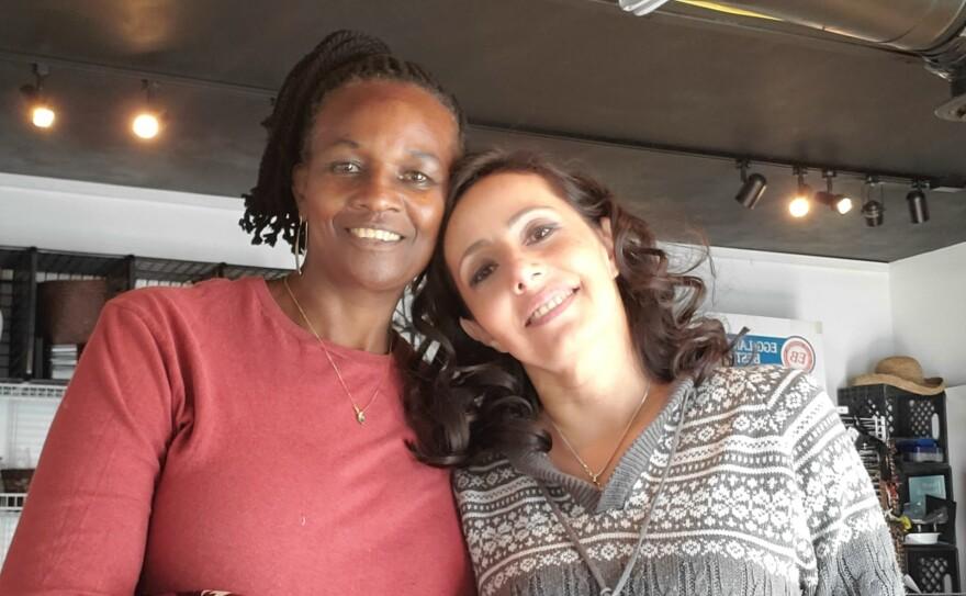 Severa Mwiza and Gabriela Pickett