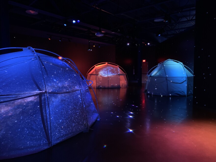 Tent-like domes at the Doseum aim to recreate smells in our solar system.