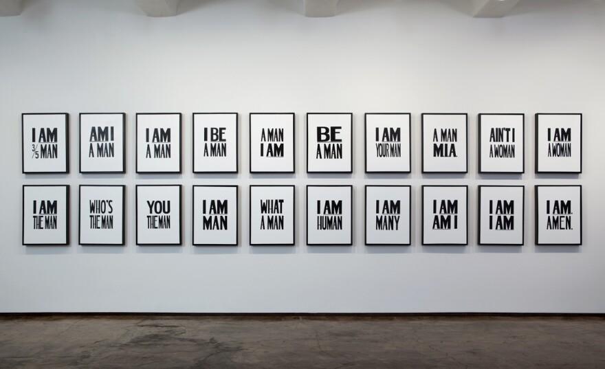 Hank Willis Thomas (American, born 1976), I Am. Amen., 2009. Liquitex on canvas. Image courtesy of the artist and Jack Shainman Gallery, New York. Copyright Hank Willis Thomas