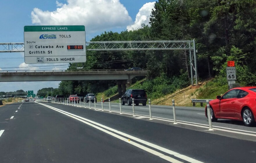 Fifteen miles of the I-77 Express Lanes opened Saturday between Huntersville and Mooresville.
