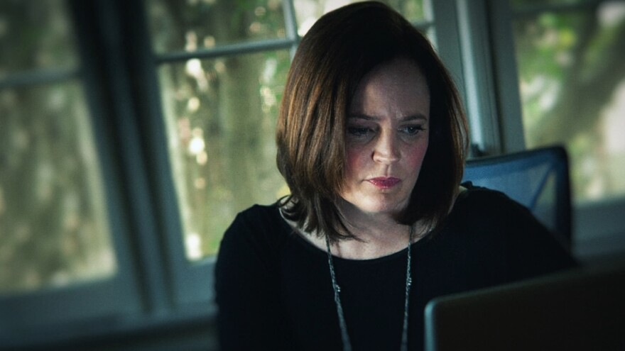 Author Michelle McNamara, in the HBO documentary series based on her book.