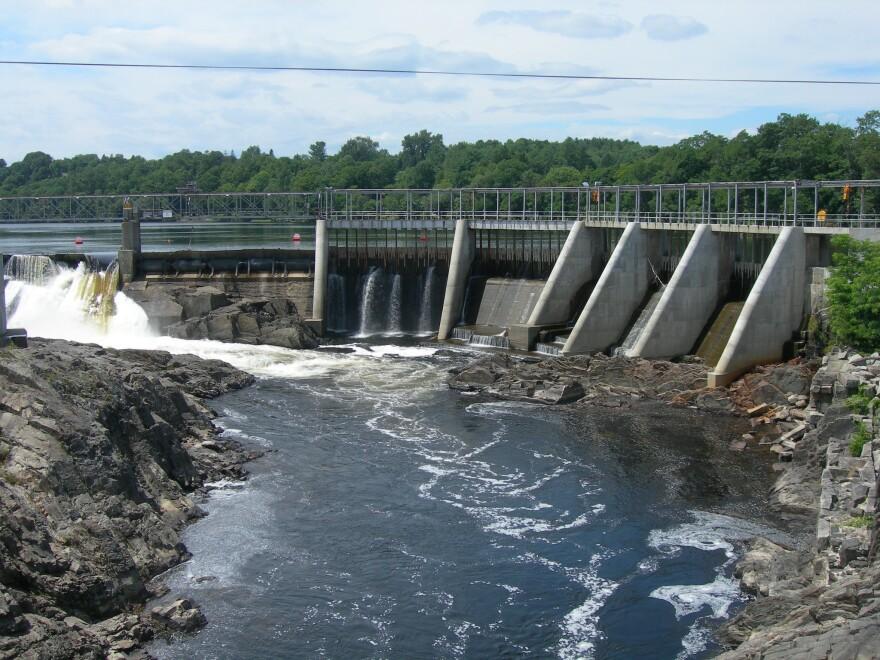 Kennebec River Dam Skowhegan, Maine