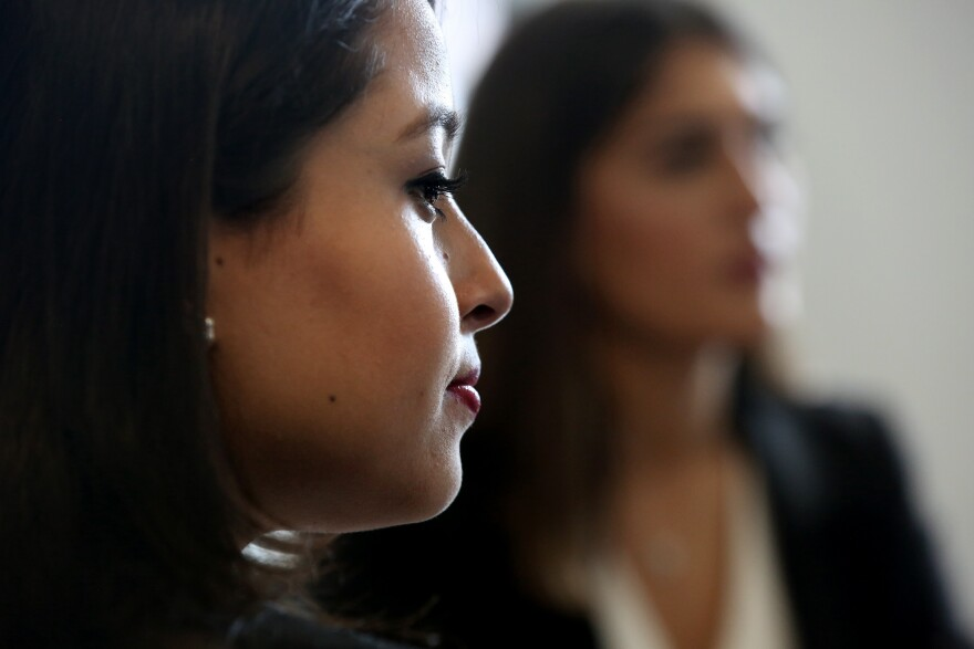 Kanchan Amatya of Nepal, 22, and Djellza Pulatani of New York, 17, are among the drafters of the Global Girls' Bill of Rights.