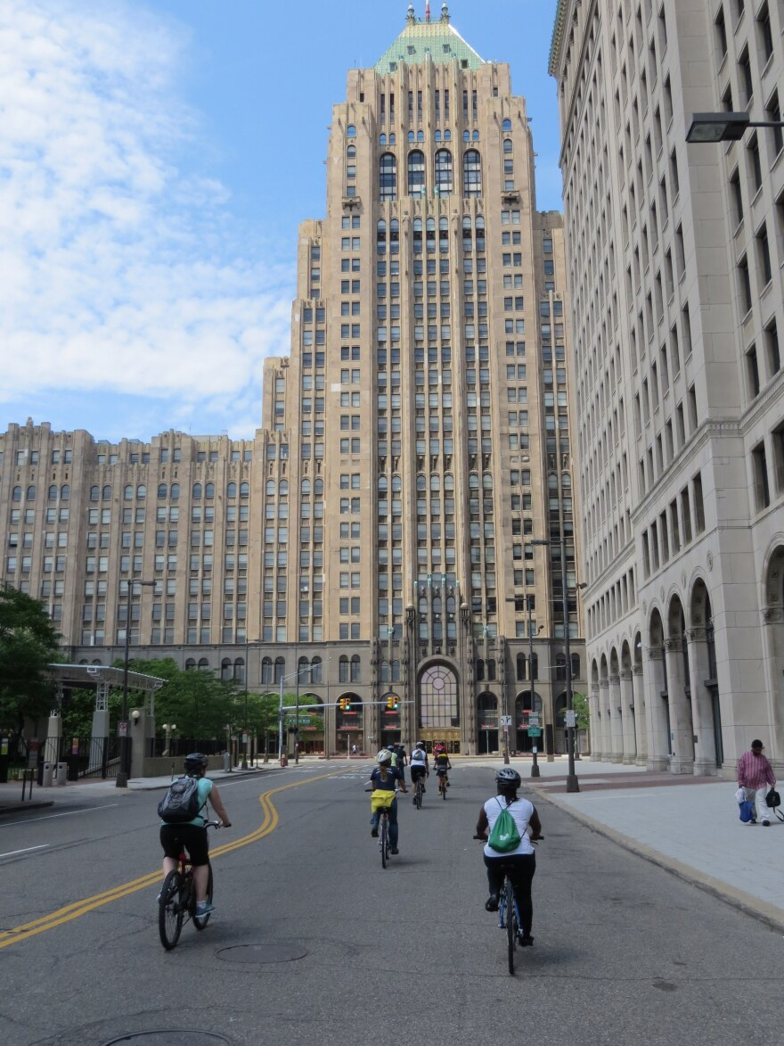 The 29-story Fisher building is up for auction online.