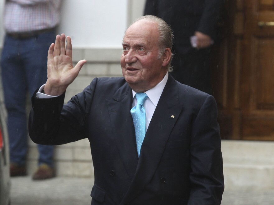 Juan Carlos, the former king of Spain, pictured in 2016, is being investigated for possible corruption and is leaving for an undisclosed country.