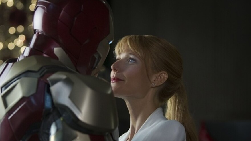 In <em>Iron Man 3</em>, Robert Downey Jr. reprises his role as Tony Stark (aka Iron Man), and Gwyneth Paltrow reprises hers as his girlfriend, Pepper Potts.