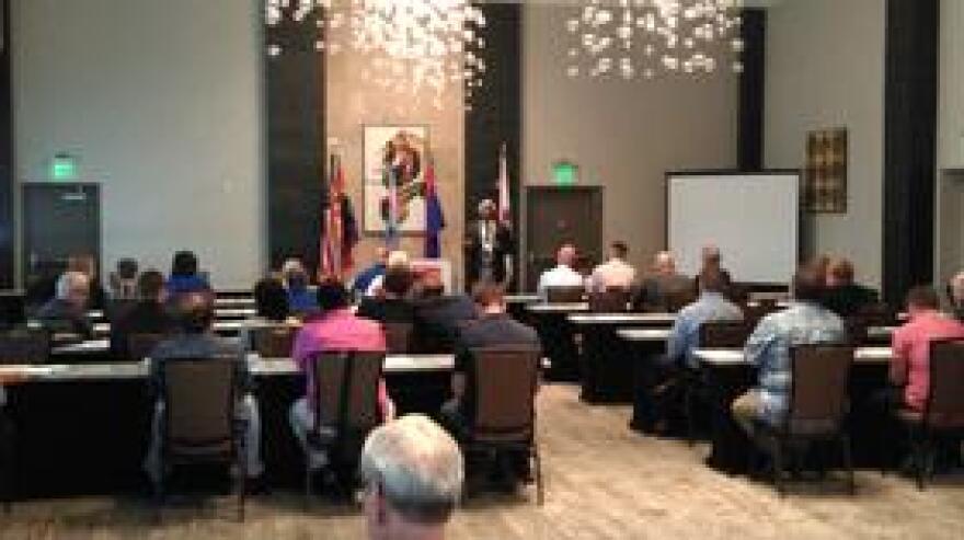 Members of the Florida LGBTA Democratic Caucus meeting at Tallahassee's Hotel Duval.