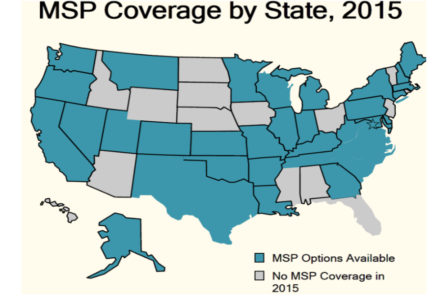 A map showing which states have multi-state plan agreements in place.