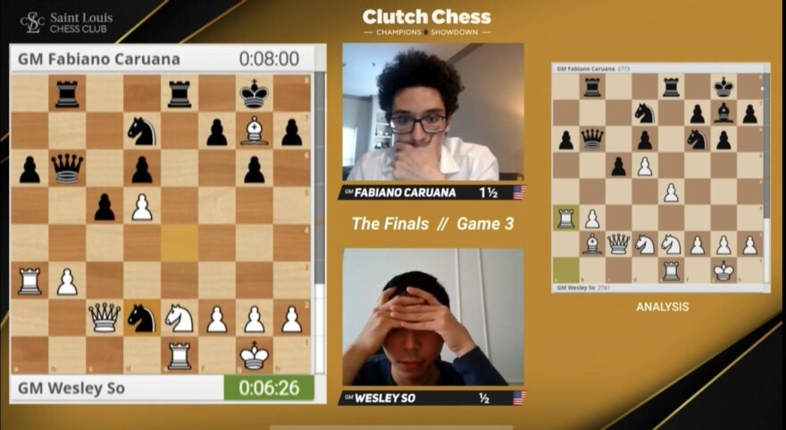 Screen shot of online chess game