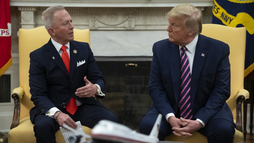 Trump meets with New Jersey Rep. Jeff Van Drew on Dec. 19, 2019, before he switched parties from Democrat to Republican.