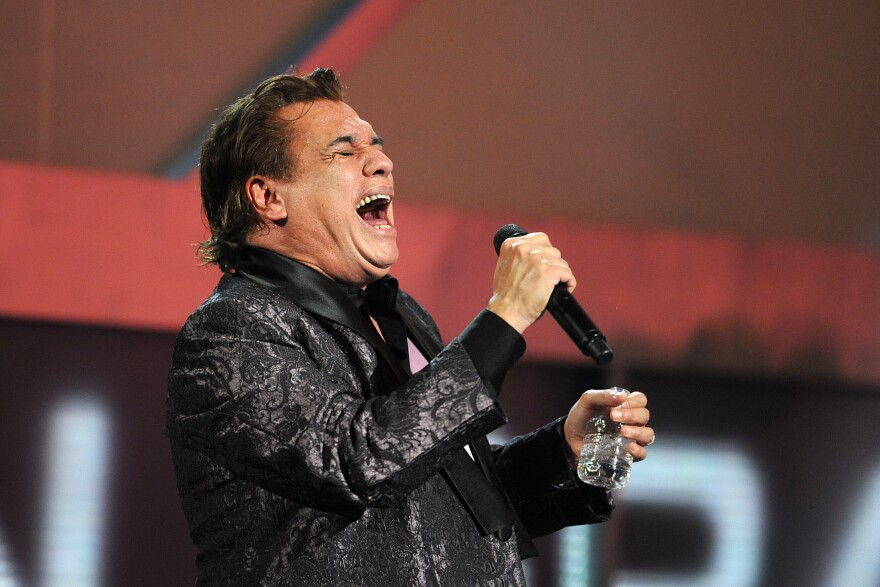 Singer Juan Gabriel performs during the Latin Grammy Awards in 2009.