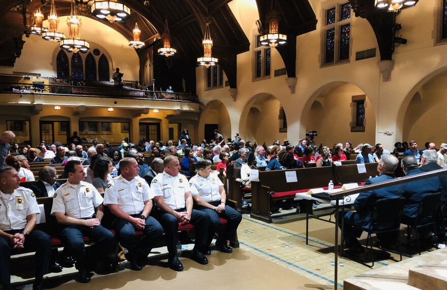 More than a hundred concerned residents, civic leaders, and others joined members of the Community Police Council, Dayton Police and Mayor Nan Whaley for the Coversation on Gun Violence.