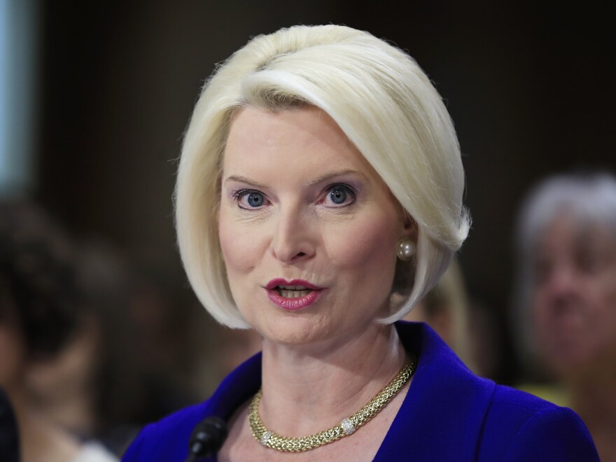 Callista Gingrich of Virginia, wife of former House Speaker Newt Gingrich, testifies on Capitol Hill in Washington, in July.