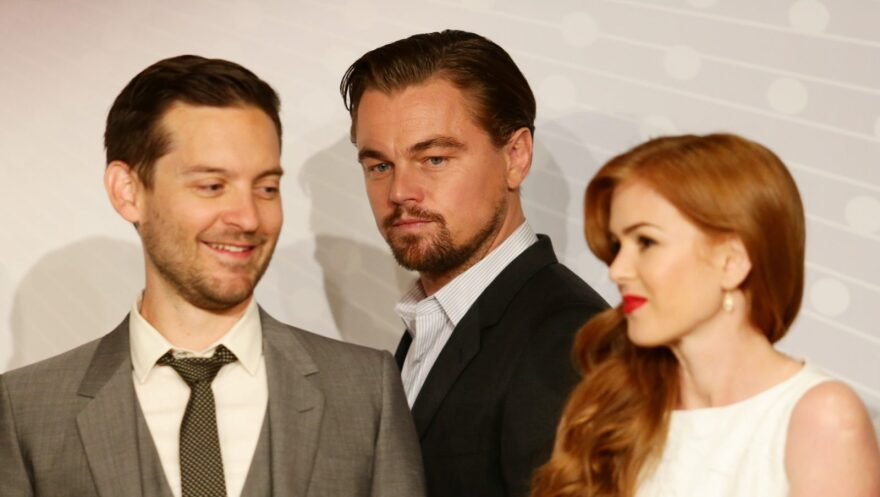 "Actor Tobey Maguire, actor Leonardo DiCaprio and actress Isla Fisher all starred in Baz Luhrmann's 2013 film adaptation of ""The Great Gatsby."""