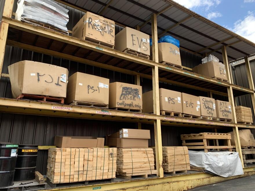 outdoor bins at DMI Companies
