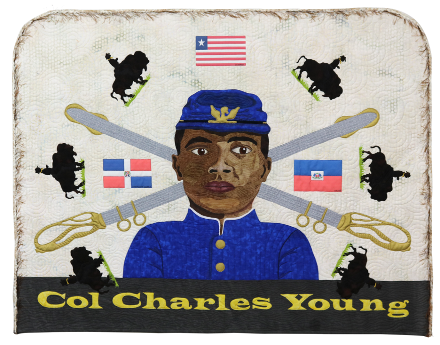 'In Service' is a reflection on the military life of Colonel Charles Young created by artist Renée Fleuranges-Valdes
