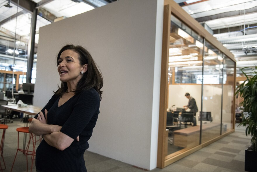 """Facebook's chief operating officer, Sheryl Sandberg interviewed at the company's offices in Menlo Park, Calif., on Thursday€"""" told NPR: """"We did not think enough about the abuse cases."""""""