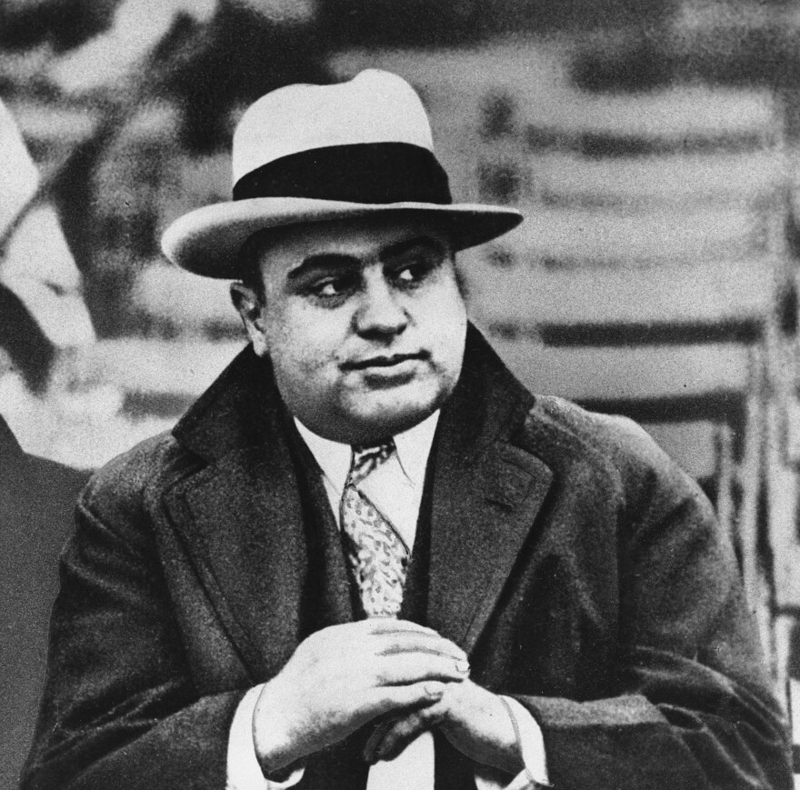 The trade in alcohol — illegal under Prohibition — led to the rise of organized crime and men such as Chicago gangster Al Capone, photographed here on Jan. 19, 1931.