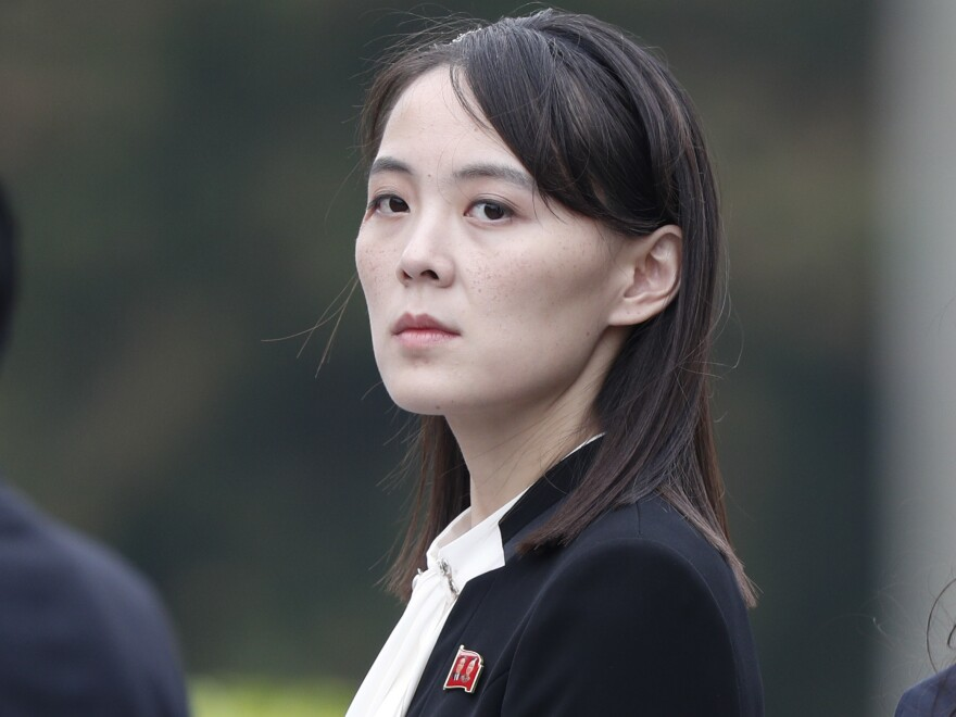 Kim Yo Jong, sister of North Korea's leader Kim Jong Un, attends a wreath-laying ceremony at Ho Chi Minh Mausoleum in Hanoi, Vietnam, March 2, 2019.