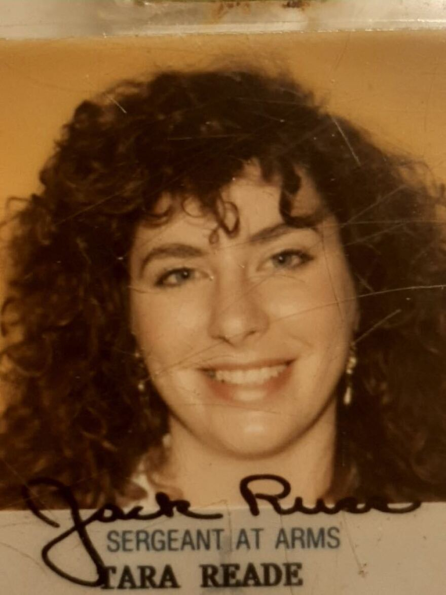Tara Reade's congressional identification card from the early 1990s. Records show she worked in Joe Biden's Senate office for about nine months.