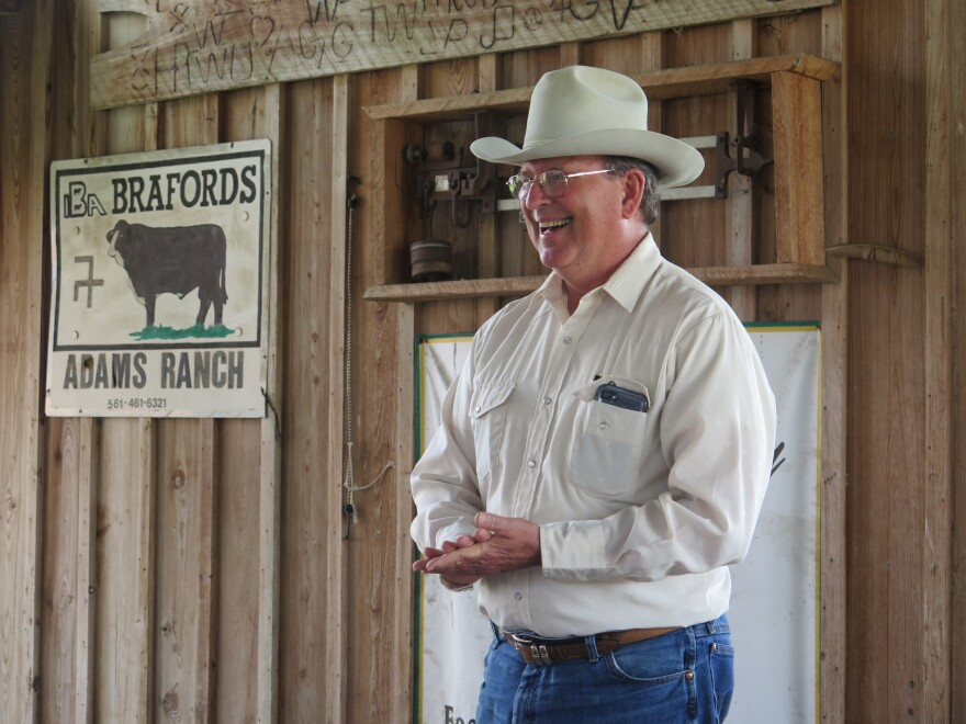 Mike Adams spends some $250,000 every year to control the weed on his 40,000-acre ranch.
