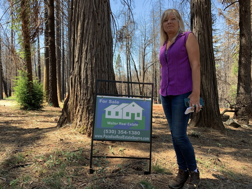 Tammy Waller, a real estate agent in Magalia, Calif., says her livelihood is directly affected by the water crisis following the Camp Fire.
