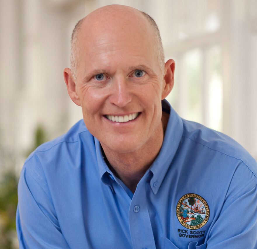 Gov. Rick Scott is taking heat in a 60-second video produced by the Democratic Senatorial Campaign Committee.
