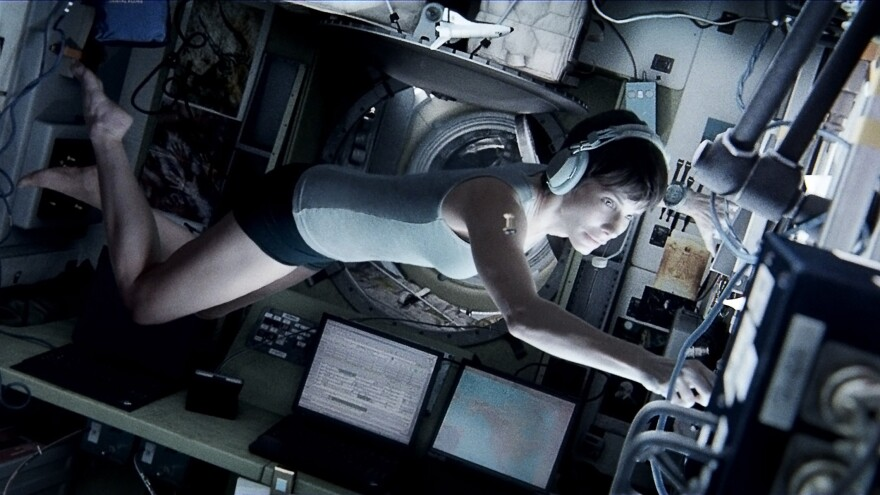Many of the special effects in the action-adventure film <em>Gravity</em> were generated by computers — but star Sandra Bullock also had to put in a good deal of work, with choreographed movements simulating weightlessness.
