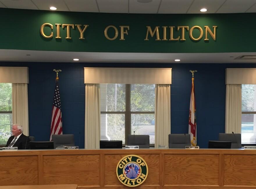 Milton City Council chambers.