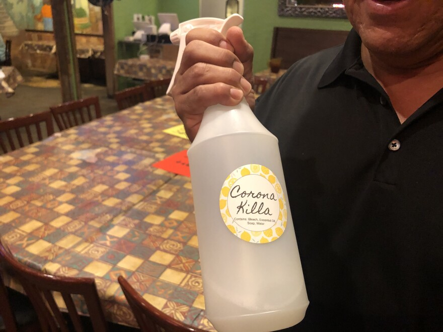 When stores ran out of bleach, Gerardo's created its own household sanitizer.