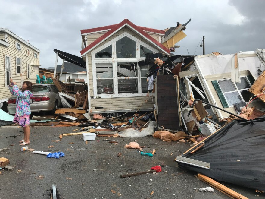 A water spout and tornado from Hurricane Dorian caused damage in Emerald Isle, N.C. CITY OF EMERALD ISLE