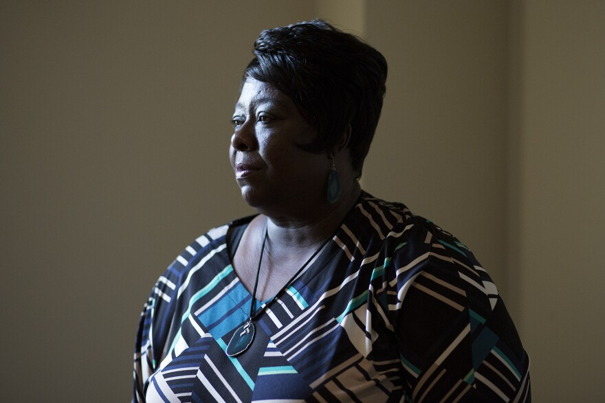 After her son was killed, Sharon Williams started a support group for relatives and friends of gun violence victims. After her son was killed, Sharon Williams started a support group for people who've lost loved ones because of gun violence. (Sept. 27, 20