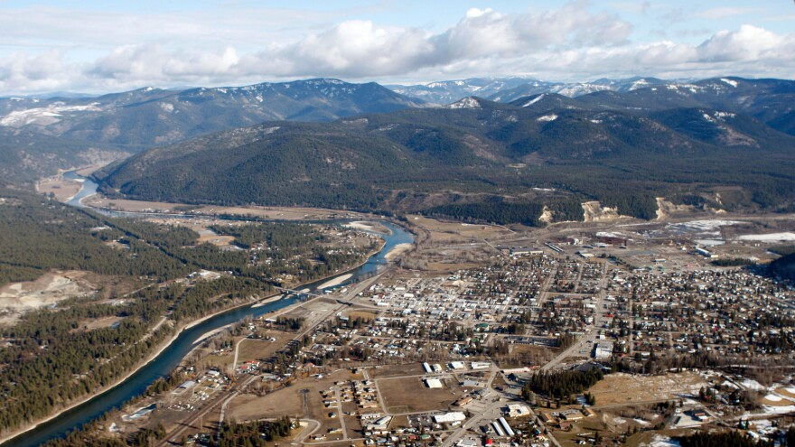 The town of Libby along the Kootenai River in Montana in winter 2010. Libby has emerged as the deadliest Superfund site in the nation's history: at least 400 people have died from asbestos-related diseases after breathing in asbestos-contaminated dust from a nearby vermiculite mine.