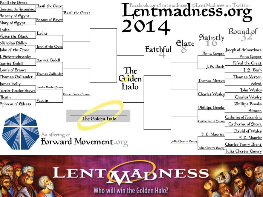 """Comments on the Lent Madness website have gotten heated. Mark D. writes, """"So I got my wish: JS Bach is in the mix. But he's in the same bracket with the Wesleys and Thomas Merton?? This is going to be ugly."""""""