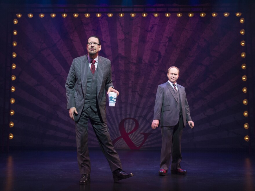 Penn and Teller take the stage on Broadway at the Marquis Theatre.