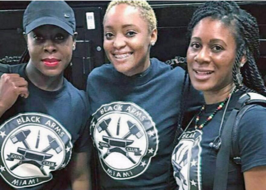 Members of The South Florida Black Arms Gun Club.
