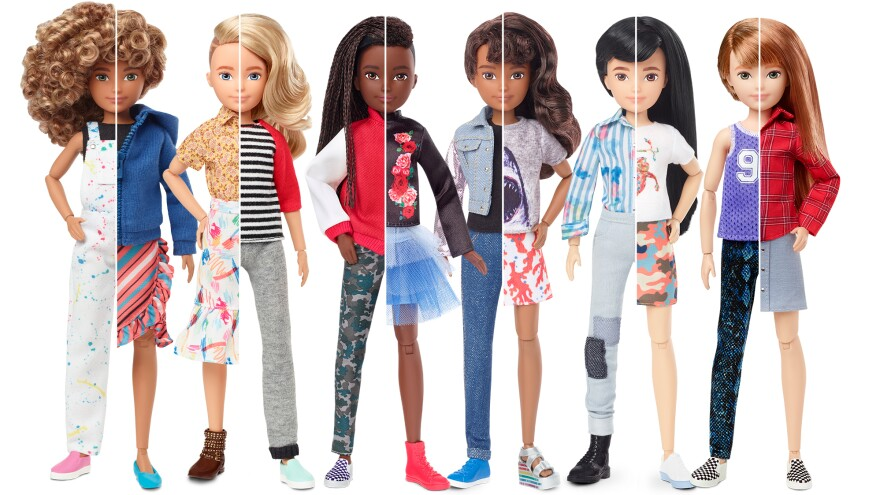 Mattel's new Creatable World dolls.
