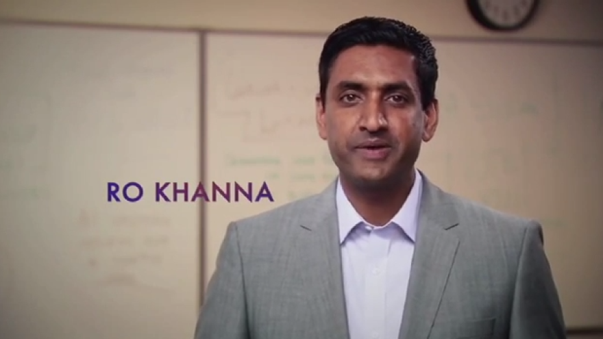 "In his campaign announcement video, Democrat Ro Khanna says he's running for Congress because Silicon Valley's ""innovation and energy can cut through old-style Washington politics."""