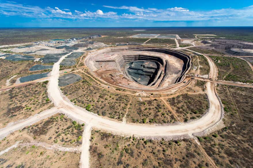 The open pit mine where the diamond was found. It's the largest uncovered in over a century.
