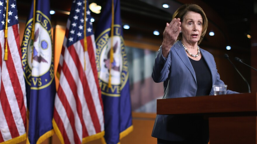 """Republicans have been very much against Amtrak for a very long time,"" Democratic leader Nancy Pelosi said."