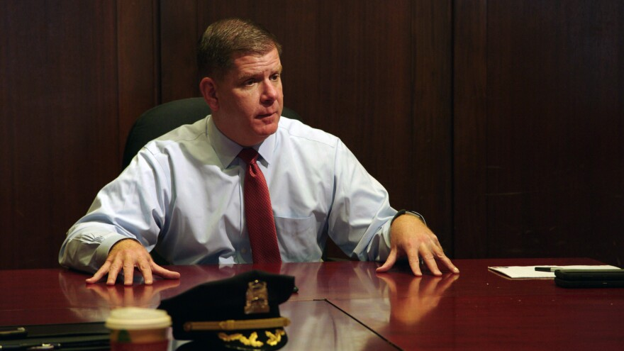 <em>City Hall</em> tags along as Boston mayor Marty Walsh attends various appointments and public appearances — including this meeting about violent crime.
