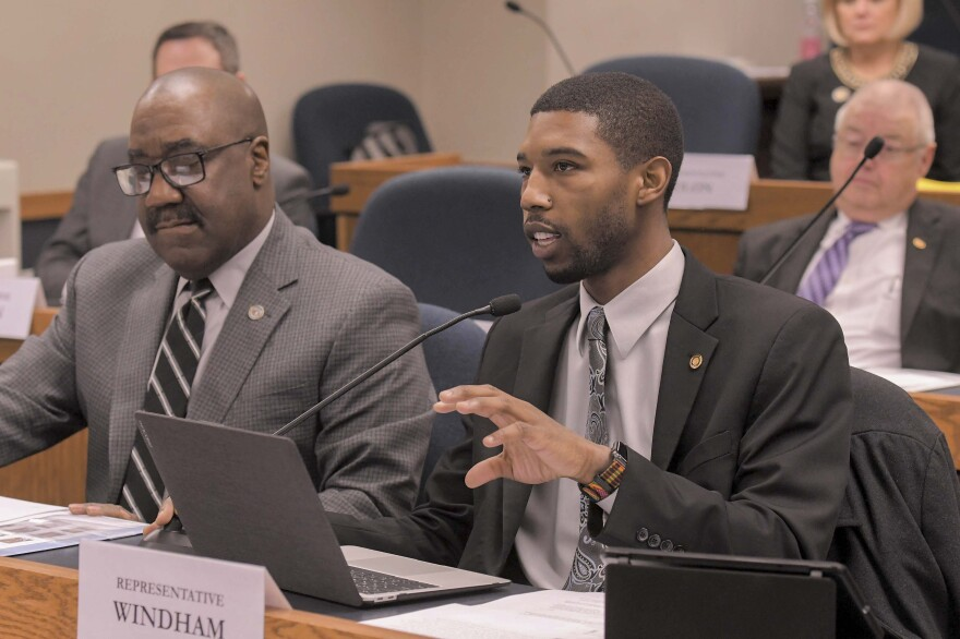 State Rep. Kevin Windham, Jr., speaks during a February 2020 committee hearing.