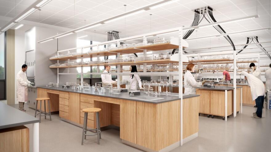 Kent State chemistry lab