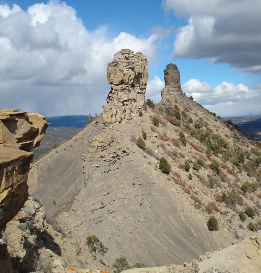 Chimney Rock, in southwestern Colorado.